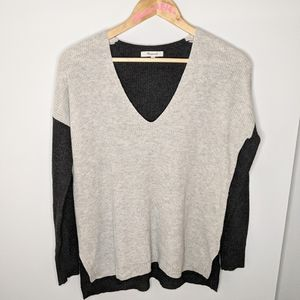 Madewell colour block wool sweater size xs